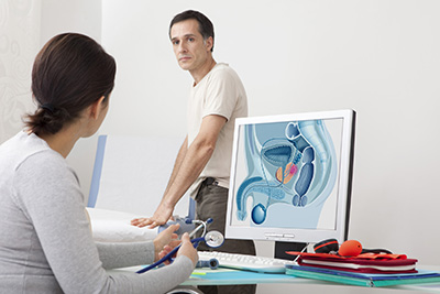 Digital rectal exam evaluates prostate issues