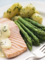 Salmon is high in good fats